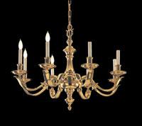 Crystorama Arlington Collection 8 Light Chandelier in Polished Brass 458-PB