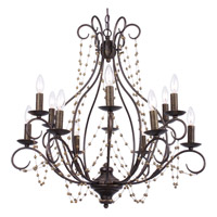 Crystorama Angelina 12 Light Chandelier in English Bronze 459-EB