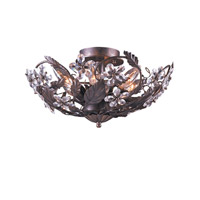 Crystorama Primrose Semi-Flush Mount in Dark Rust with Swarovski Spectra Crystals 4600-DR