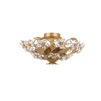 Crystorama Paris Flea Market 6 Light Semi-Flush Mount in Gold Leaf 4600-GL