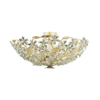 Crystorama Paris Flea Market 6 Light Flush Mount in Champagne with Swarovski Spectra Crystals 4604-CM