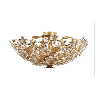Crystorama Paris Flea Market 6 Light Flush Mount in Gold Leaf with Swarovski Spectra Crystals 4604-GL