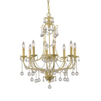 Crystorama Lighting Lena 8 Light Chandelier in Champagne & Murano Crystal 4608-CM photo thumbnail