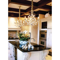 Crystorama Lighting Lena 8 Light Chandelier in Silver Leaf & Murano Crystal 4608-SL photo thumbnail
