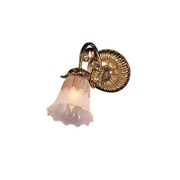 Crystorama Cecile 1 Light Wall Sconce in Olde Brass 461-OB-T