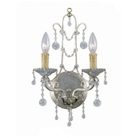 Signature 2 Light 10 inch Silver Leaf Wall Sconce Wall Light