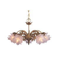 Crystorama Cecile 5 Light Mini Chandelier in Olde Brass 465-OB-H-L
