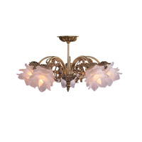 Crystorama Cecile 5 Light Semi-Flush Mount in Olde Brass 465-OB-SF-L