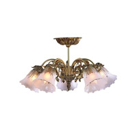 Crystorama Cecile 5 Light Chandelier in Olde Brass 465-OB-SF-T