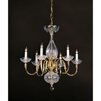 Crystorama Historical Brass 6 Light Chandelier in Polished Brass 466-PB
