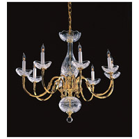 Crystorama Historical Brass 8 Light Chandelier in Polished Brass 468-PB