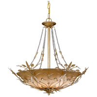 Crystorama Primrose 6 Light Chandelier in Gold Leaf with Swarovski Spectra Crystals 4700-GL