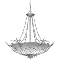 Crystorama Primrose 6 Light Chandelier in Silver Leaf with Swarovski Spectra Crystals 4700-SL