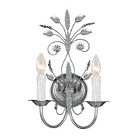 Crystorama Primrose 2 Light Wall Sconce in Silver Leaf 4702-SL