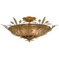 Crystorama Primrose 6 Light Semi-Flush Mount in Gold Leaf with Swarovski Spectra Crystals 4704-GL