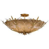 Crystorama Primrose 6 Light Semi-Flush Mount in Gold Leaf with Swarovski Spectra Crystals 4705-GL