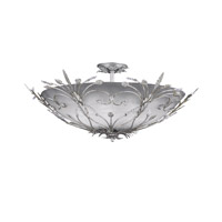 Crystorama Primrose 6 Light Semi-Flush Mount in Silver Leaf with Swarovski Spectra Crystals 4705-SL