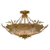 Crystorama Primrose 6 Light Semi Flush Mount in Gold Leaf 4707-GL