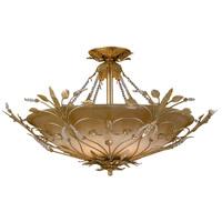Crystorama 4707-GL Primrose 6 Light 25 inch Gold Leaf Semi Flush Mount Ceiling Light in Gold Leaf (GL)