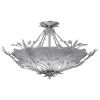 Crystorama Paris Flea Market 6 Light Semi-Flush Mount in Silver Leaf with Swarovski Spectra Crystals 4707-SL
