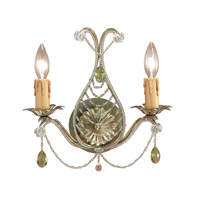 Crystorama Abigail 2 Light Wall Sconce in Gold Leaf 4712-GL