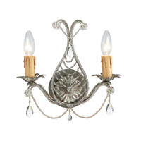 Signature 2 Light 12 inch Silver Leaf Wall Sconce Wall Light
