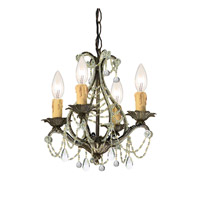 Crystorama Signature 4 Light Mini Chandelier in Birch with Hand Cut Crystals 4714-BI-CL-MWP