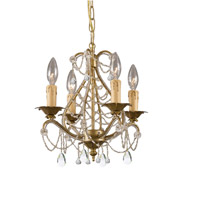 Crystorama Abigail 4 Light Mini Chandelier in Gold Leaf with Hand Cut Crystals 4714-GL-CL-MWP