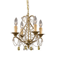 Crystorama Abigail 4 Light Mini Chandelier in Gold Leaf 4714-GL