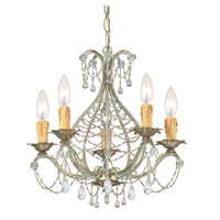 Crystorama Abigail 5 Light Mini Chandelier in Gold Leaf with Hand Cut Crystals 4715-GL-CL-MWP