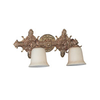 Crystorama Lighting Baroque 2 Light Bath Vanity in Antique Brass 472-AB photo thumbnail