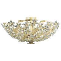 Crystorama Paris Market 6 Light Semi Flush Mount in Champagne, Hand Cut 4724-CM