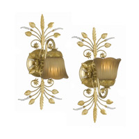 Crystorama Primrose 1 Light Bath Light in Gold Leaf with Swarovski Spectra Crystals 4741-GL
