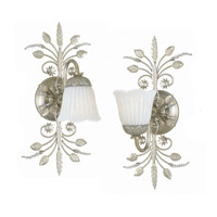 Crystorama Primrose 1 Light Wall Sconce in Silver Leaf 4741-SL