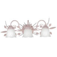 Crystorama Primrose 3 Light Bath Light in Blush 4743-BH photo thumbnail