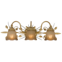 Crystorama Primrose 3 Light Wall Sconce in Gold Leaf 4743-GL