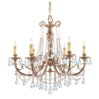 Crystorama Etta 6 Light Chandelier in Olde Brass with Swarovski Spectra Crystals 476-OB-CL-SAQ