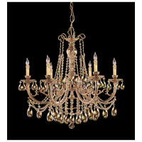 Etta 6 Light 28 inch Olde Brass Chandelier Ceiling Light in Golden Teak (GT), Hand Cut