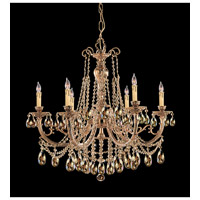Etta 6 Light 28 inch Olde Brass Chandelier Ceiling Light in Golden Teak (GT), Swarovski Elements (S)