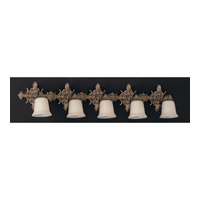 Crystorama Lighting Baroque 5 Light Bath Vanity in Antique Brass 477-AB