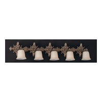 Crystorama Lighting Baroque 5 Light Bath Vanity in Olde Brass 477-OB photo thumbnail