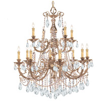 Crystorama Etta 12 Light Chandelier in Olde Brass, Clear Crystal, Swarovski Spectra 479-OB-CL-SAQ