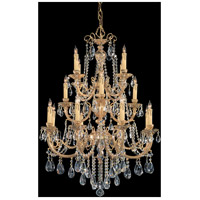 Etta 16 Light 36 inch Olde Brass Chandelier Ceiling Light in Clear Hand Cut