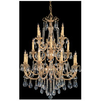 Etta 16 Light 36 inch Olde Brass Chandelier Ceiling Light in Clear Crystal (CL), Swarovski Elements (S)