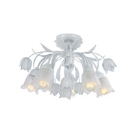 Crystorama Southport 5 Light Semi-Flush Mount in Wet White 4810-WW
