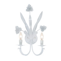 Crystorama Southport 2 Light Wall Sconce in Wet White 4812-WW