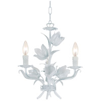 Crystorama Southport 3 Light Mini Chandelier in Wet White 4813-WW