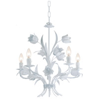 Crystorama Southport 5 Light Chandelier in Wet White 4815-WW