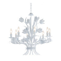 Crystorama Southport 8 Light Chandelier in Wet White 4818-WW