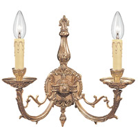 Crystorama 482-OB Etta 2 Light 17 inch Olde Brass Wall Sconce Wall Light